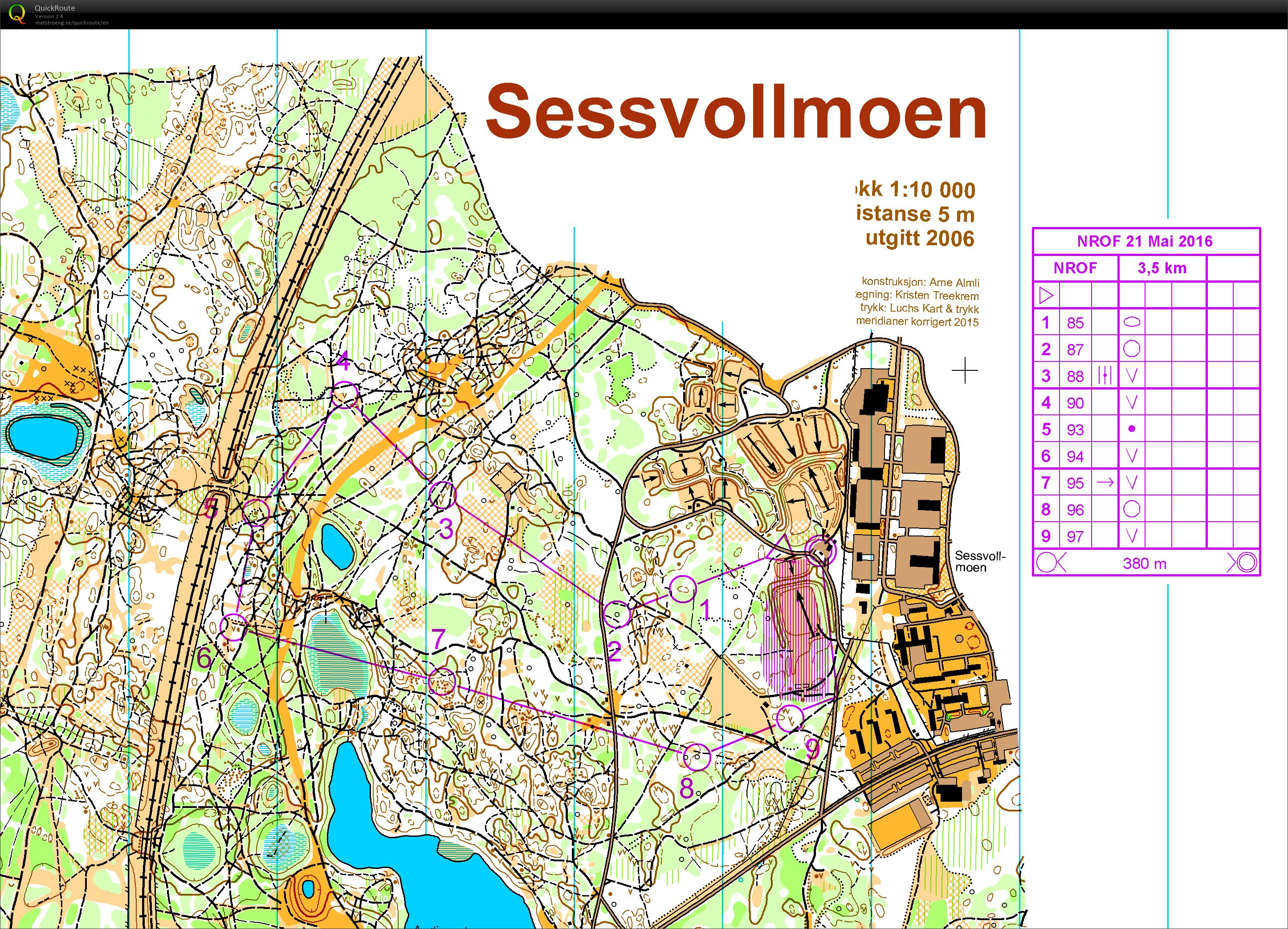 sessvollmoen kart Putting out the controls   May 19th 2016   Orienteering Map from
