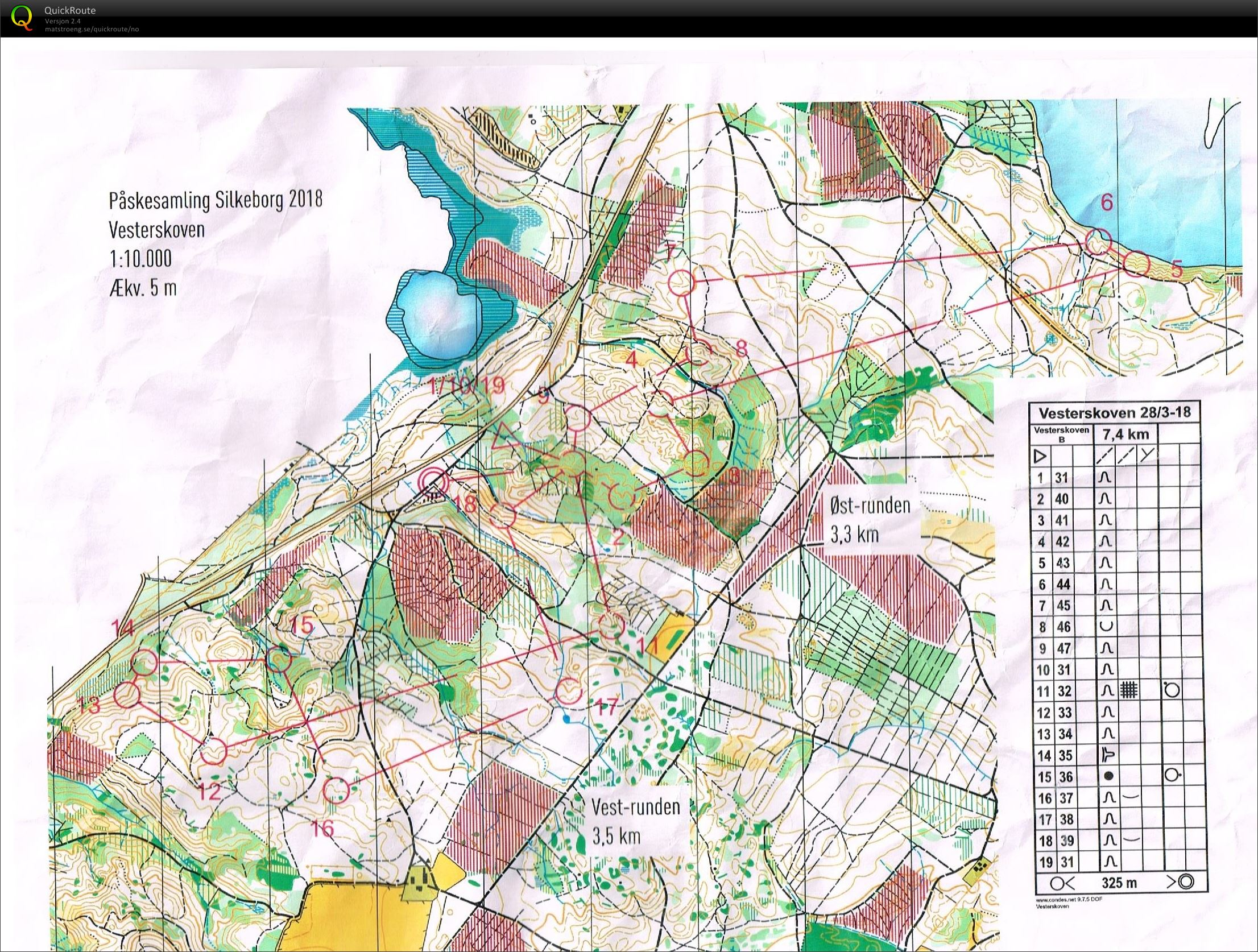 Silkeborg #5 - March 28th 2018 - Orienteering Map from Mia ...