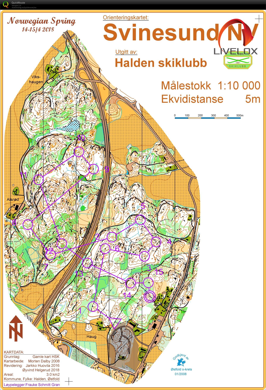 gran kommune kart Gjennomløping av Solrenningen H45   June 29th 2018   Orienteering  gran kommune kart
