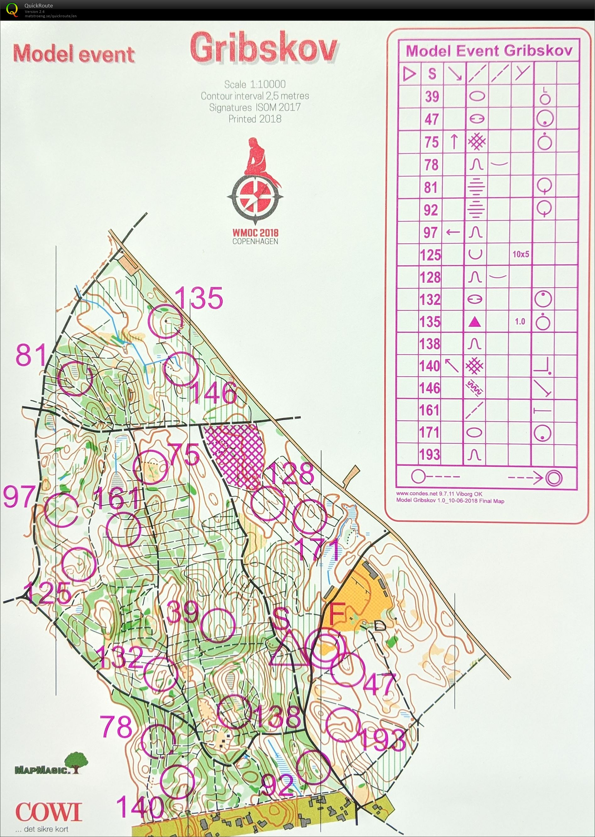 Wmoc Long Model Event July 11th 2018 Orienteering Map From