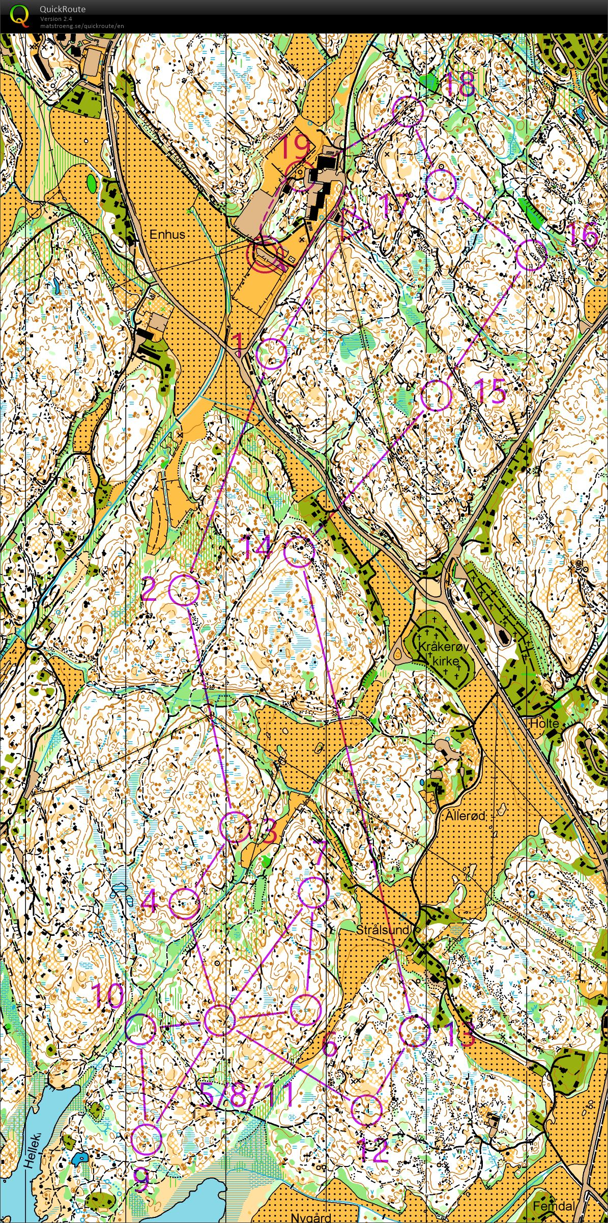 Jukola training - Blodslitet 2016 H Open rerun (02/06/2018)